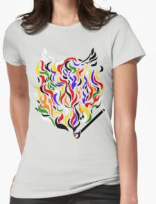 Paint a Fire! Womens Fitted T-Shirt