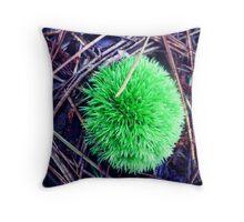 moss ball Throw Pillow