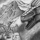 Dragon Mountain by Pencilpastel