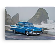 1957 Chevrolet F.I. Coupe Canvas Print