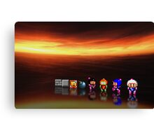 Super Bomberman pixel art Canvas Print