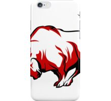 Fighting Bull Emblem  iPhone Case/Skin