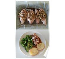 Before And After Chicken Balsamic Poster