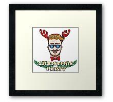 Hipster Christmas Party Design Framed Print