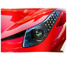 Ferrari 458 Abstract Wing / Light Poster