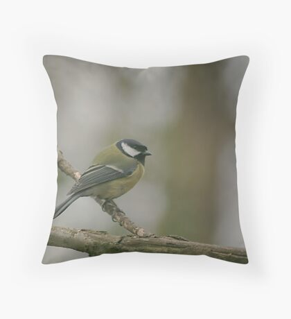 A great tit at Downton Abbey Throw Pillow