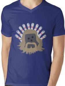 The Big LeBOWLski Mens V-Neck T-Shirt