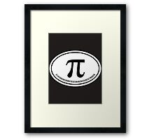 PI - Euro Sticker Framed Print