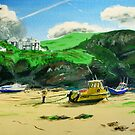Port Isaac in Cornwall by Paulmayfield