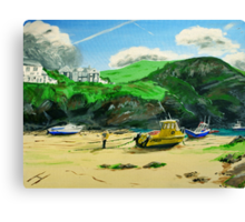 Port Isaac in Cornwall Canvas Print