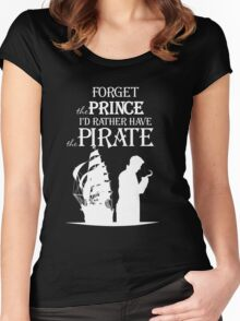 Captain Hook T-Shirt. I'd rather have the Pirate!  Women's Fitted Scoop T-Shirt