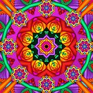 Happiness, fractal mandala / kaleidoscope artwork by walstraasart