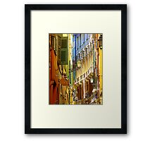 The Old Town Of Nice Framed Print