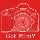 Canon EOS 1v &#x27;Got Film?&#x27; T Shirt by David Jenkins