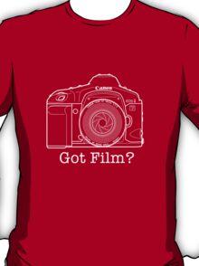 Canon EOS 1v 'Got Film?' T Shirt T-Shirt