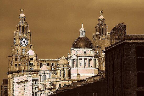 Liver Buildings, Liverpool, UK. by Stan Owen