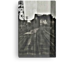 abandoned tracks in the middle of nowhere Canvas Print