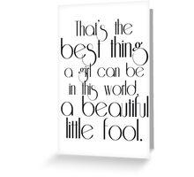 The Great Gatsby ~ Beautiful Fool Greeting Card