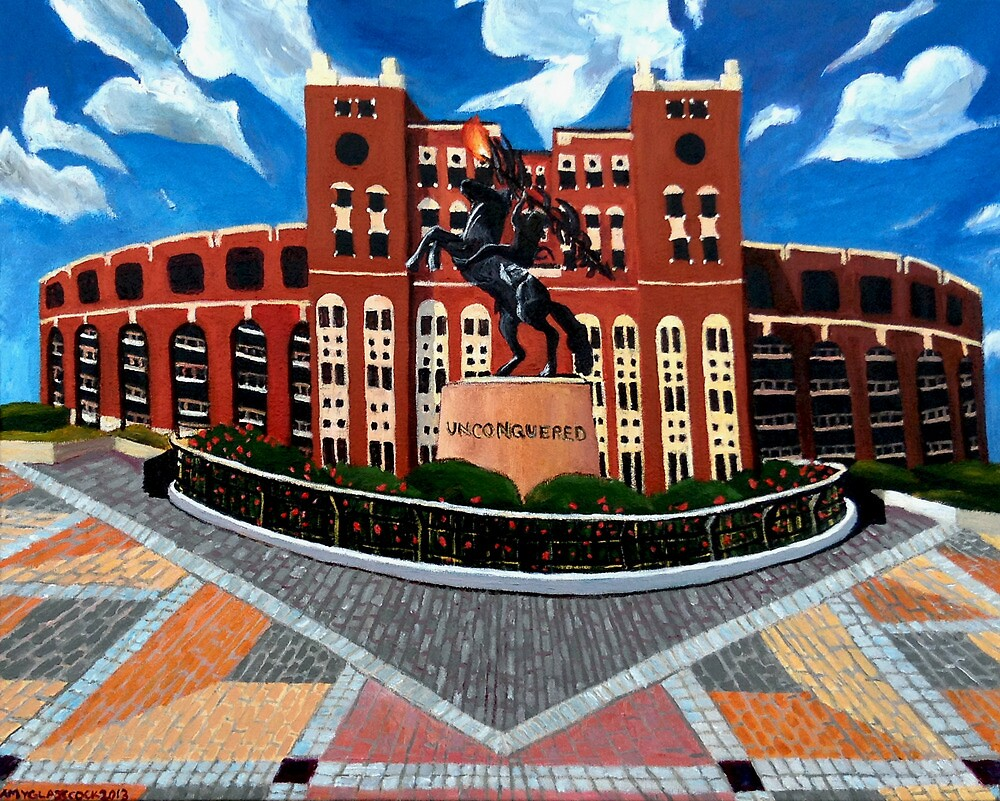 "108. ""Unconquered. (Doak Campbell Stadium, Florida State University)."" by amyglasscockart"