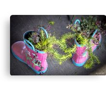 These Boots Were Made For Planting Canvas Print