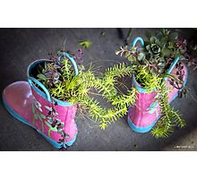 These Boots Were Made For Planting Photographic Print