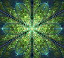 Glowing Flower II by Sandy Keeton