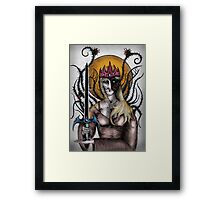 Two faced woman Framed Print
