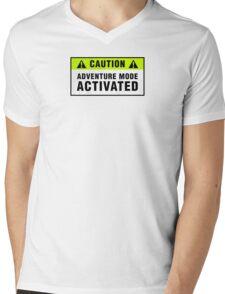 Caution: Adventure mode activated Mens V-Neck T-Shirt