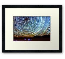 Star Trails over Racetrack Playa Stones of Death Valley Framed Print