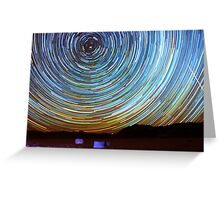 Star Trails over Racetrack Playa Stones of Death Valley Greeting Card