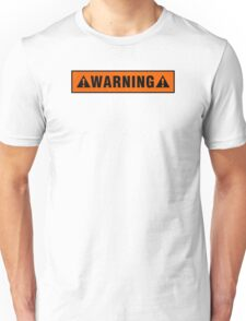 Warning label T-shirt Unisex T-Shirt