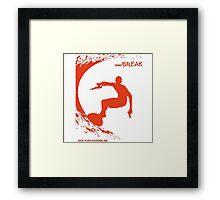Point Break Movie surfing 100% pure adrenaline Framed Print