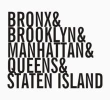 New York City - Neighborhoods (black) by enedois