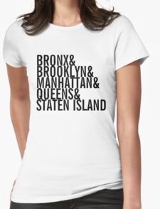 New York City - Neighborhoods (black) Womens Fitted T-Shirt