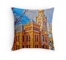 HDR, Llano Court House Tx., Throw Pillow