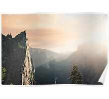 Dawn in the Mountains Poster