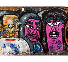 Melbourne Street Art #021 - Pink Faces Photographic Print