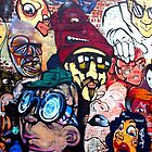 Melbourne Street Art #018 - Too Many Faces by pommieken