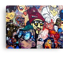 Melbourne Street Art #018 - Too Many Faces Canvas Print