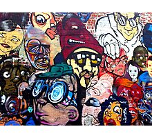 Melbourne Street Art #018 - Too Many Faces Photographic Print