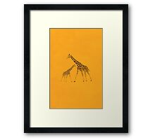 Animal Giraffe Picture Framed Print