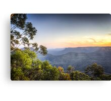 Echo Point, Blue Mountains in HDR Canvas Print