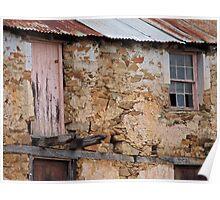 Close up of Remains of a Swiss Italian Villa Circa 1850 Poster