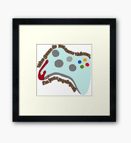 Video Game Violence Framed Print