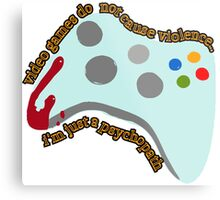 Video Game Violence Metal Print