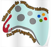 Video Game Violence Poster