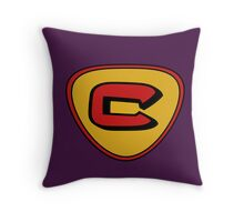 cow and chicken super cow Throw Pillow