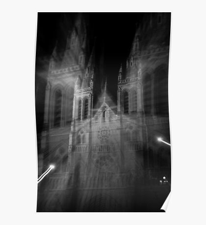 Ghostly St Peters Cathedral Poster