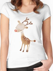 Rudolf the reindeer Women's Fitted Scoop T-Shirt