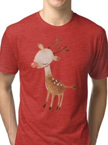 Rudolf the reindeer Tri-blend T-Shirt